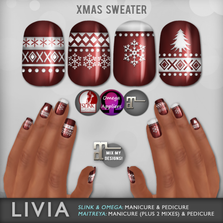 LIVIA // Xmas Sweater Nails (The Naughty List Exclusive)